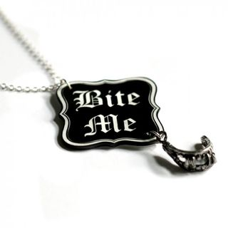 bite me necklace